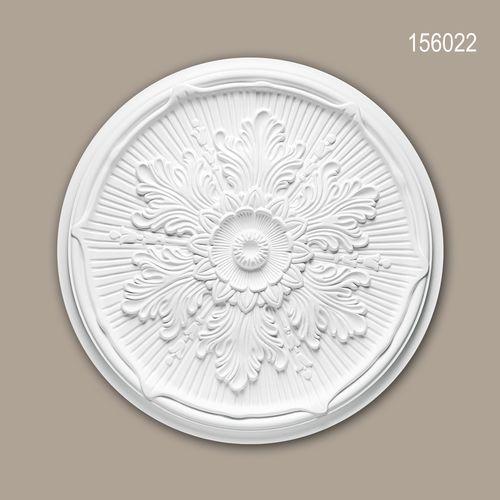 Rosette PROFHOME 156022 Zierelement Deckenelement Neo-Renaissance-Stil weiß – Bild 1