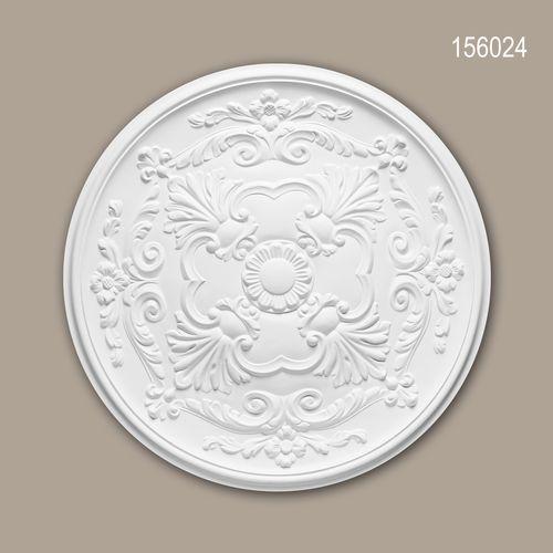 Rosette PROFHOME 156024 Zierelement Deckenelement Neo-Empire-Stil weiß – Bild 1