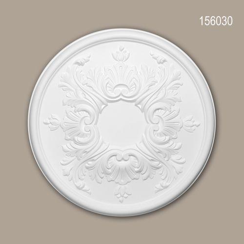 Rosette PROFHOME 156030 Zierelement Deckenelement Rokoko Barock Stil weiß – Bild 1