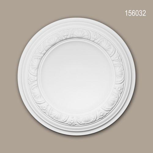 Rosette PROFHOME 156032 Zierelement Deckenelement Neo-Renaissance-Stil weiß – Bild 1