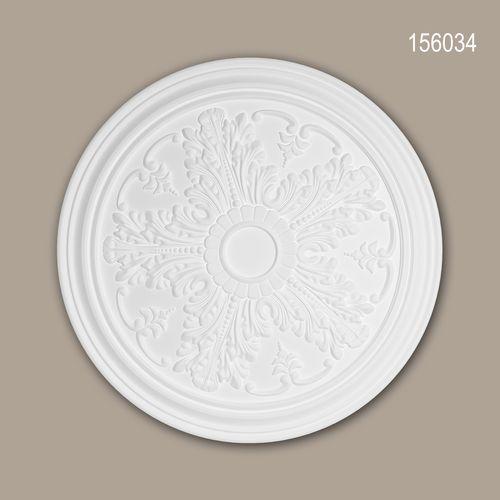 Rosette PROFHOME 156034 Zierelement Deckenelement Neo-Klassizismus-Stil weiß – Bild 1