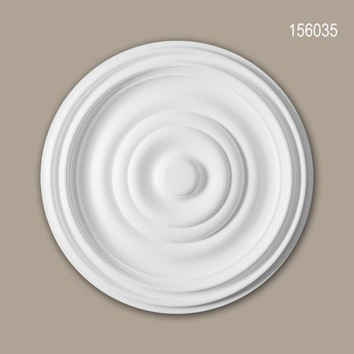 Rosette PROFHOME 156035 Zierelement Deckenelement Zeitloses Klassisches Design weiß – Bild 1