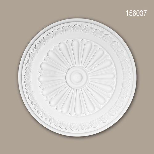 Rosette PROFHOME 156037 Zierelement Deckenelement Neo-Klassizismus-Stil weiß – Bild 1