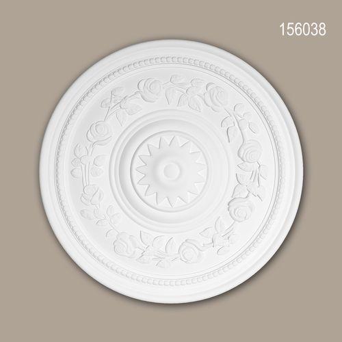 Rosette PROFHOME 156038 Zierelement Deckenelement Rokoko Barock Stil weiß – Bild 1