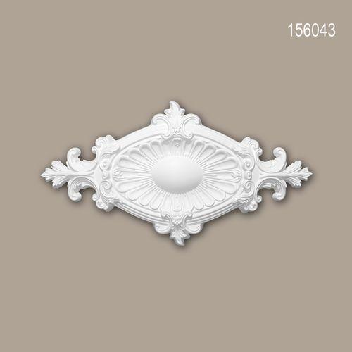Rosette PROFHOME 156043 Zierelement Deckenelement Neo-Empire-Stil weiß – Bild 1