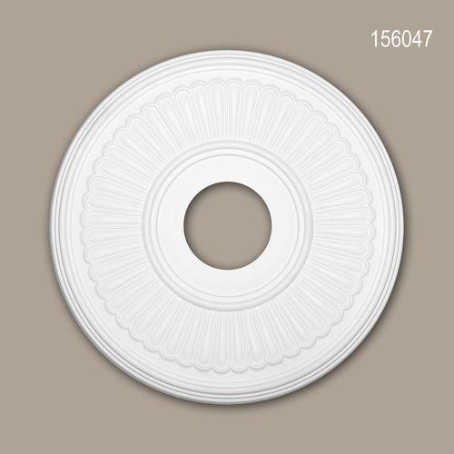 Rosette PROFHOME 156047 Zierelement Deckenelement Neo-Klassizismus-Stil weiß – Bild 1