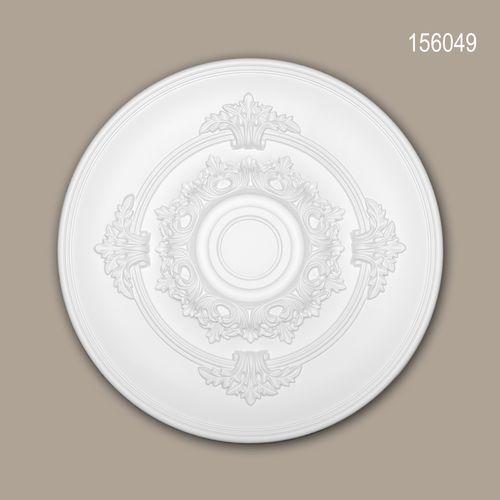 Rosette PROFHOME 156049 Zierelement Deckenelement Neo-Empire-Stil weiß – Bild 1