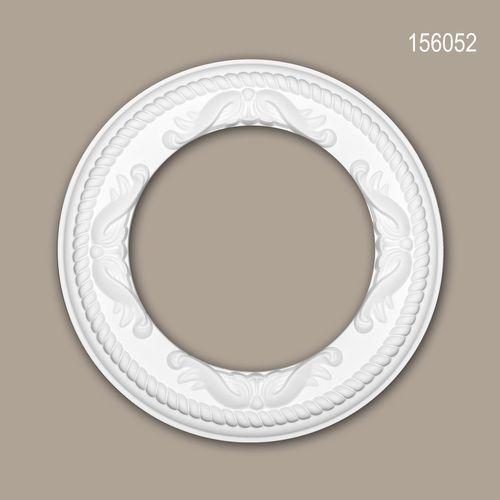 PROFHOME 156044 Rosette aus Polyurethan Stuck Deckenrosette Zierelement Ø 62 cm
