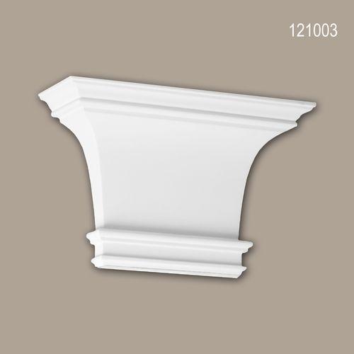 Pilaster Kapitell PROFHOME 121003 Zierelement Dorischer Stil weiß – Bild 1