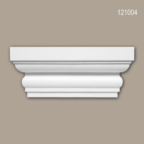 Pilaster Kapitell PROFHOME 121004 Zierelement Dorischer Stil weiß – Bild 1