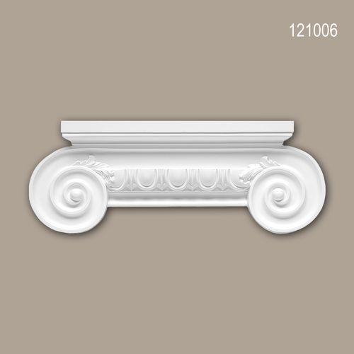 Pilaster Kapitell PROFHOME 121006 Zierelement Ionischer Stil weiß – Bild 1