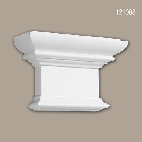 Pilaster Kapitell PROFHOME 121008 Zierelement Dorischer Stil weiß – Bild 1