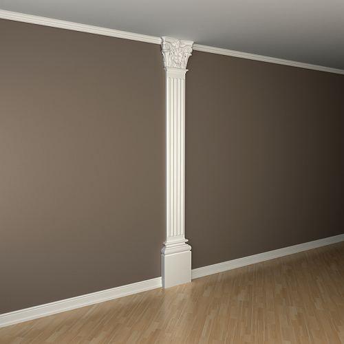 Pilaster Schaft PROFHOME 122020 Zierelement Neo-Klassizismus-Stil weiß – Bild 2