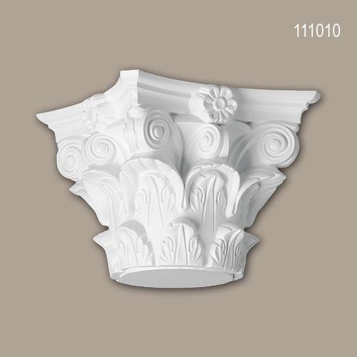 Vollsäulen Kapitell PROFHOME 111010 Säule Zierelement Korinthischer Stil weiß – Bild 1