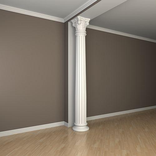 Vollsäulen Sockel PROFHOME 113400 Säule Zierelement Zeitloses Klassisches Design weiß – Bild 2