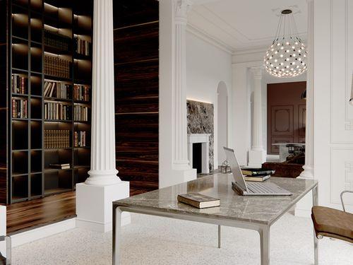 Vollsäulen Sockel PROFHOME 113400 Säule Zierelement Zeitloses Klassisches Design weiß – Bild 4