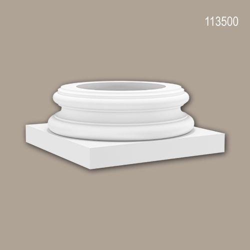 Vollsäulen Sockel PROFHOME 113500 Säule Zierelement Zeitloses Klassisches Design weiß – Bild 1