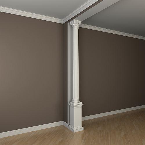 Vollsäulen Sockel PROFHOME 113900 Säule Zierelement Zeitloses Klassisches Design weiß – Bild 3