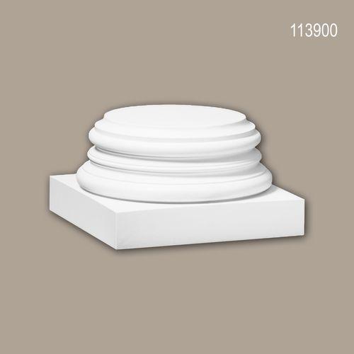 Vollsäulen Sockel PROFHOME 113900 Säule Zierelement Zeitloses Klassisches Design weiß – Bild 1