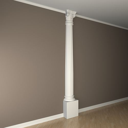 Halbsäulen Kapitell PROFHOME 115001 Säule Zierelement Korinthischer Stil weiß – Bild 3