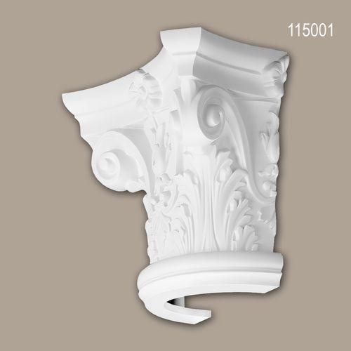 Halbsäulen Kapitell PROFHOME 115001 Säule Zierelement Korinthischer Stil weiß – Bild 1