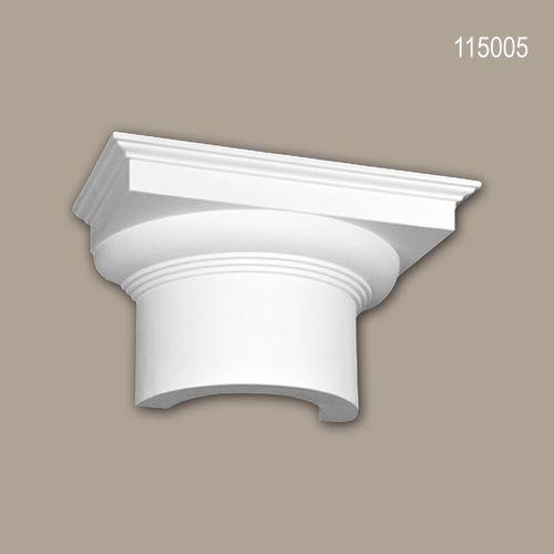 Halbsäulen Kapitell PROFHOME 115005 Säule Zierelement Dorischer Stil weiß – Bild 1