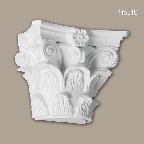 Halbsäulen Kapitell PROFHOME 115010 Säule Zierelement Korinthischer Stil weiß – Bild 1