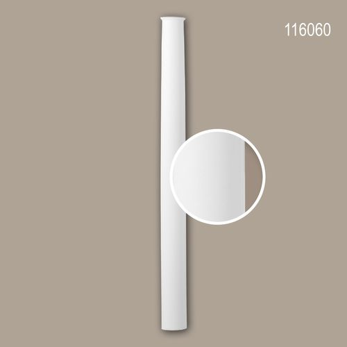 Halbsäulen Schaft PROFHOME 116060 Säule Zierelement Neo-Klassizismus-Stil weiß – Bild 1