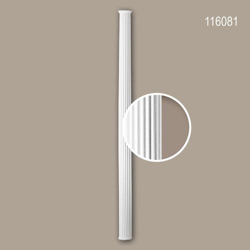 Halbsäulen Schaft PROFHOME 116081 Säule Zierelement Neo-Klassizismus-Stil weiß – Bild 1