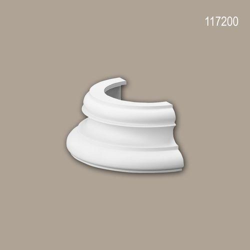 Halbsäulen Sockel PROFHOME 117200 Säule Zierelement Zeitloses Klassisches Design weiß – Bild 1