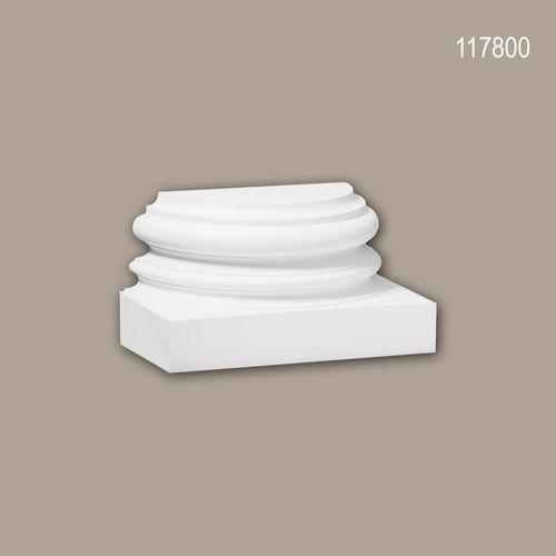 Halbsäulen Sockel PROFHOME 117800 Säule Zierelement Zeitloses Klassisches Design weiß – Bild 1