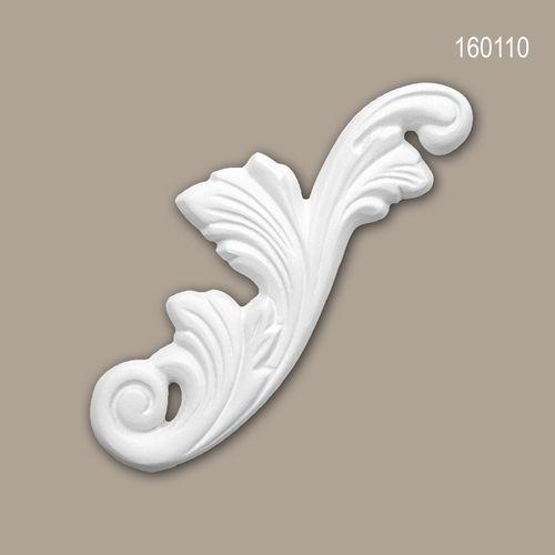 Zierelement PROFHOME 160110 Rokoko Barock Stil weiß – Bild 1