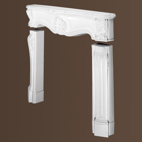 Dekorativer Kamin PROFHOME 164001 Zierelement Zeitloses Klassisches Design weiß – Bild 3