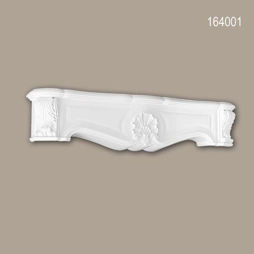 Dekorativer Kamin PROFHOME 164001 Zierelement Zeitloses Klassisches Design weiß – Bild 1