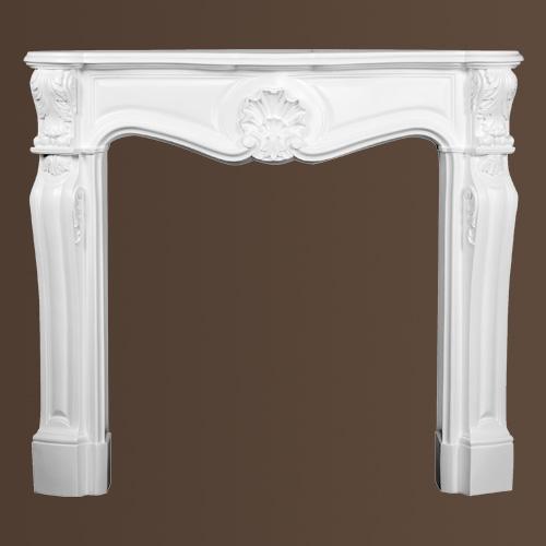 Dekorativer Kamin PROFHOME 164003 Zierelement Zeitloses Klassisches Design weiß – Bild 2