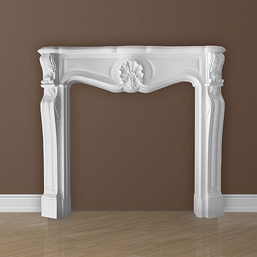Dekorativer Kamin PROFHOME 164003 Zierelement Zeitloses Klassisches Design weiß – Bild 4