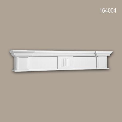 Dekorativer Kamin PROFHOME 164004 Zierelement Zeitloses Klassisches Design weiß – Bild 1