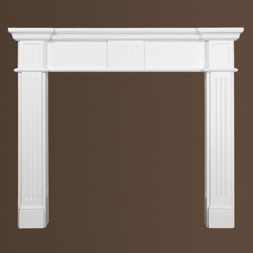 Dekorativer Kamin PROFHOME 164005 Zierelement Zeitloses Klassisches Design weiß – Bild 2