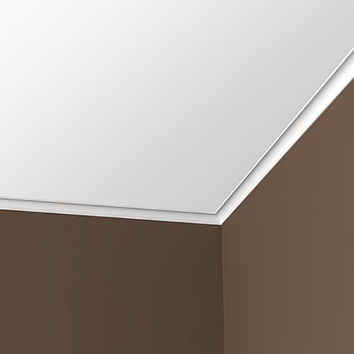 Eckleiste PROFHOME 650154 Stuckleiste Zierleiste stoßfest Modernes Design weiß 2 m – Bild 2