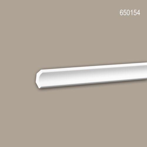 Eckleiste PROFHOME 650154 Stuckleiste Zierleiste stoßfest Modernes Design weiß 2 m – Bild 1
