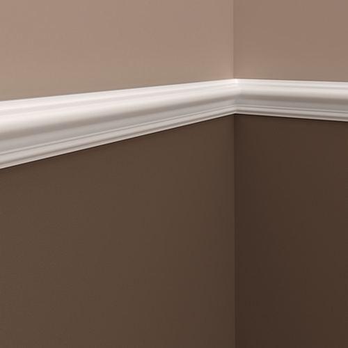 Wand- und Friesleiste PROFHOME 651302 Stuckleiste Zierleiste stoßfest Wandleiste Neo-Klassizismus-Stil weiß 2 m – Bild 2