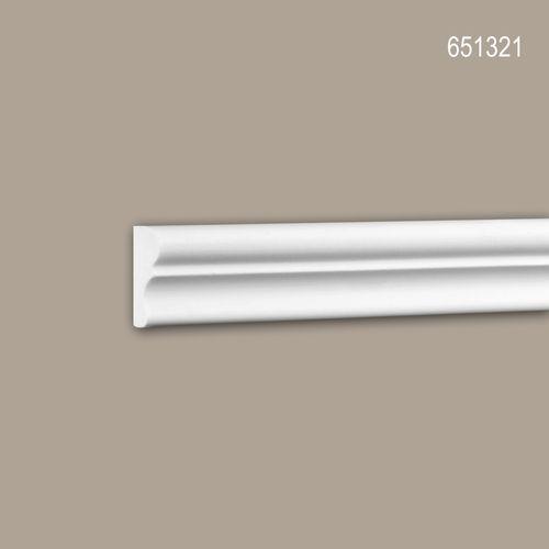 Wand- und Friesleiste PROFHOME 651321 Stuckleiste Zierleiste stoßfest Wandleiste Neo-Klassizismus-Stil weiß 2 m – Bild 1