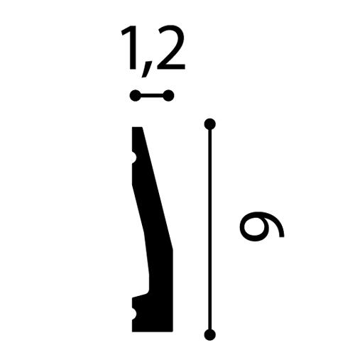 Modanatura cornice battiscopa coprifilo 2,30 metri Orac Decor DX159-2300 AXXENT  – Bild 2