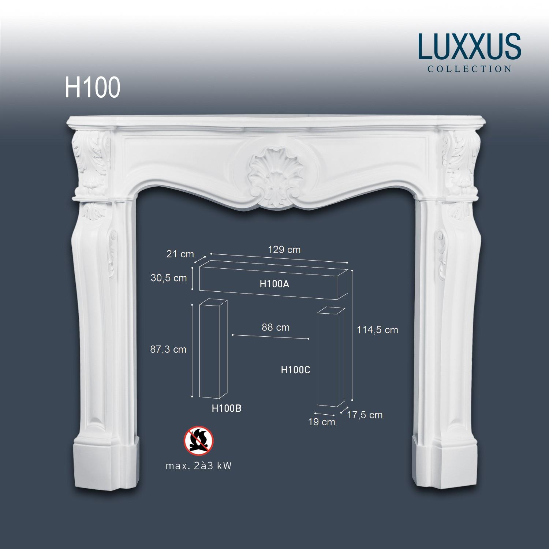 Orac Decor H100 LUXXUS Dekorativer Kamin Set Profil Wand Dekor Regal  Sideboard