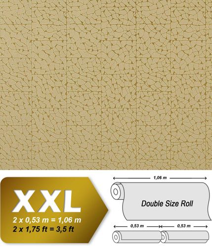 EDEM 928-38 Luxus Decor Vlies-Tapete mosaik-fliesen grün-beige gold | 10,65 qm
