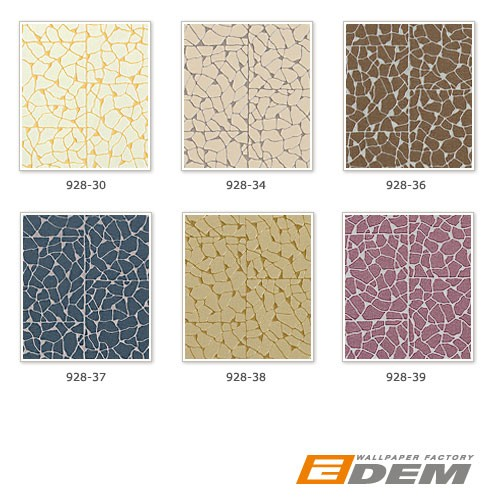 Mosaic wallcovering wallpaper EDEM 928-38 embossed non-woven tile green-beige gold  – Bild 4