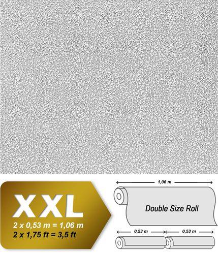 Papel pintado XXL no tejido blanco pintable EDEM 304-60 con textura decorativa de yeso para pintar encima 26,50 m2 – Imagen 2