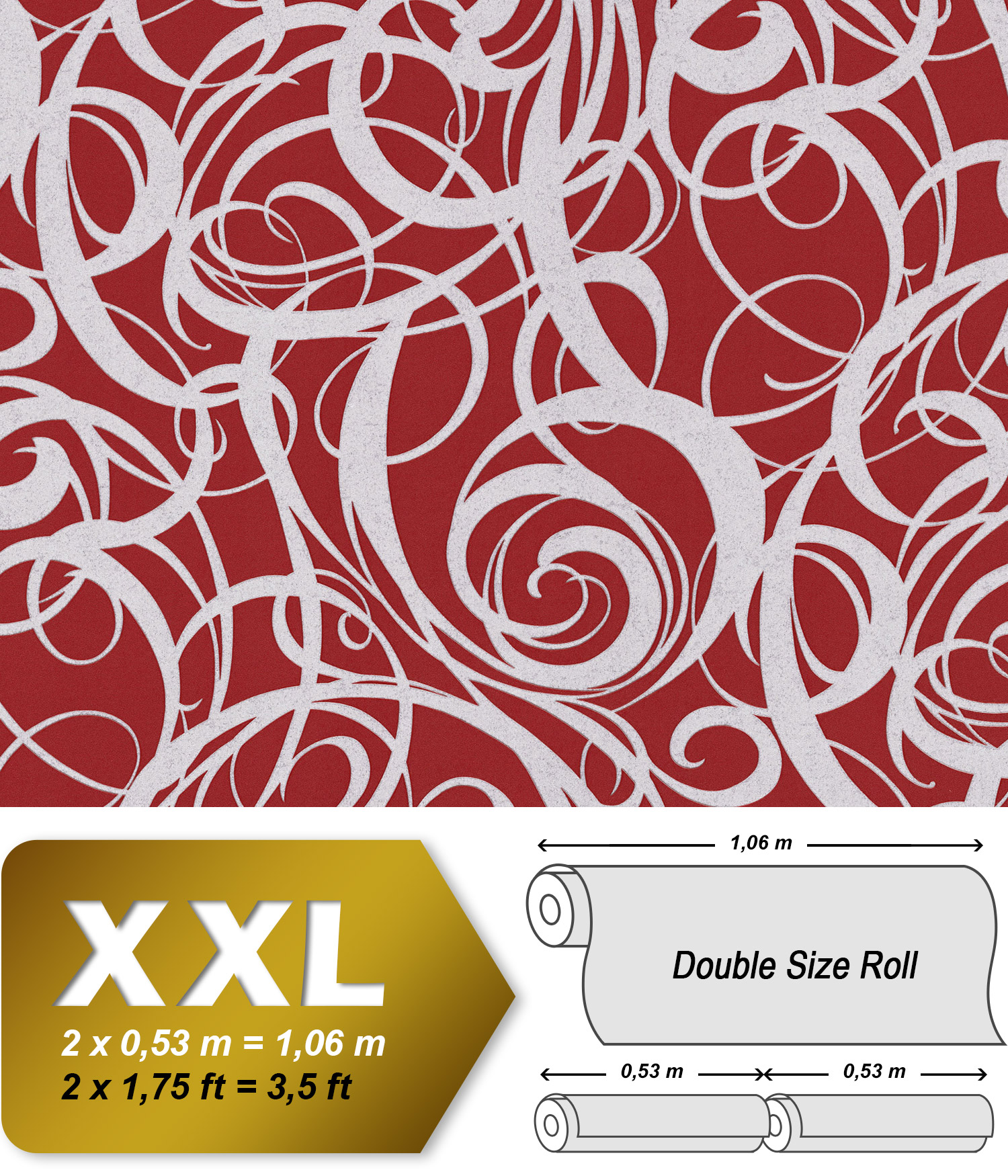 Graphic Wallpaper Wall Edem 81136br25 Hot Embossed Non Woven