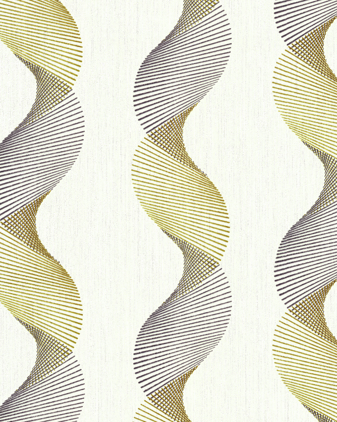Graphic Wallcovering Wall Edem 85035br30 Vinyl Wallpaper Slightly Textured Wavy Lines And Metallic Highlights Cream Oyster White Gold Silver 533 M2