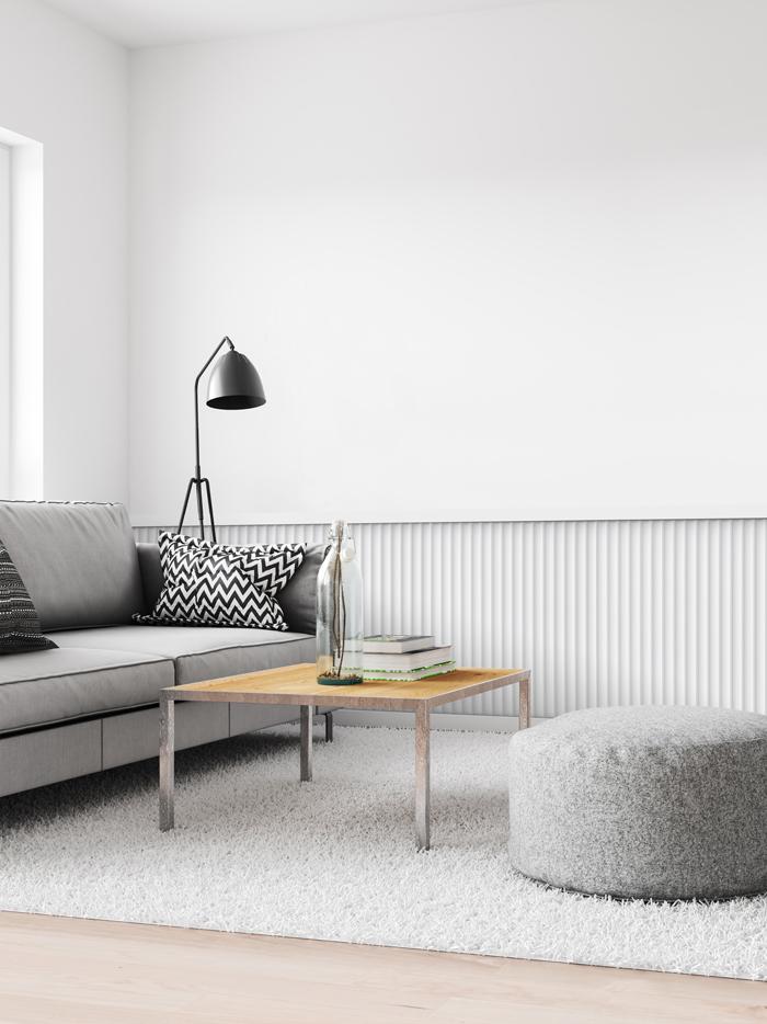 3d panneau mural Orac Decor W109 MODERN VALLEY Dalle pour mur et plafond /Élement d/écorative design moderne blanc 2 m